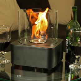sunnydaze cilindro ventless bio ethanol tabletop fireplace