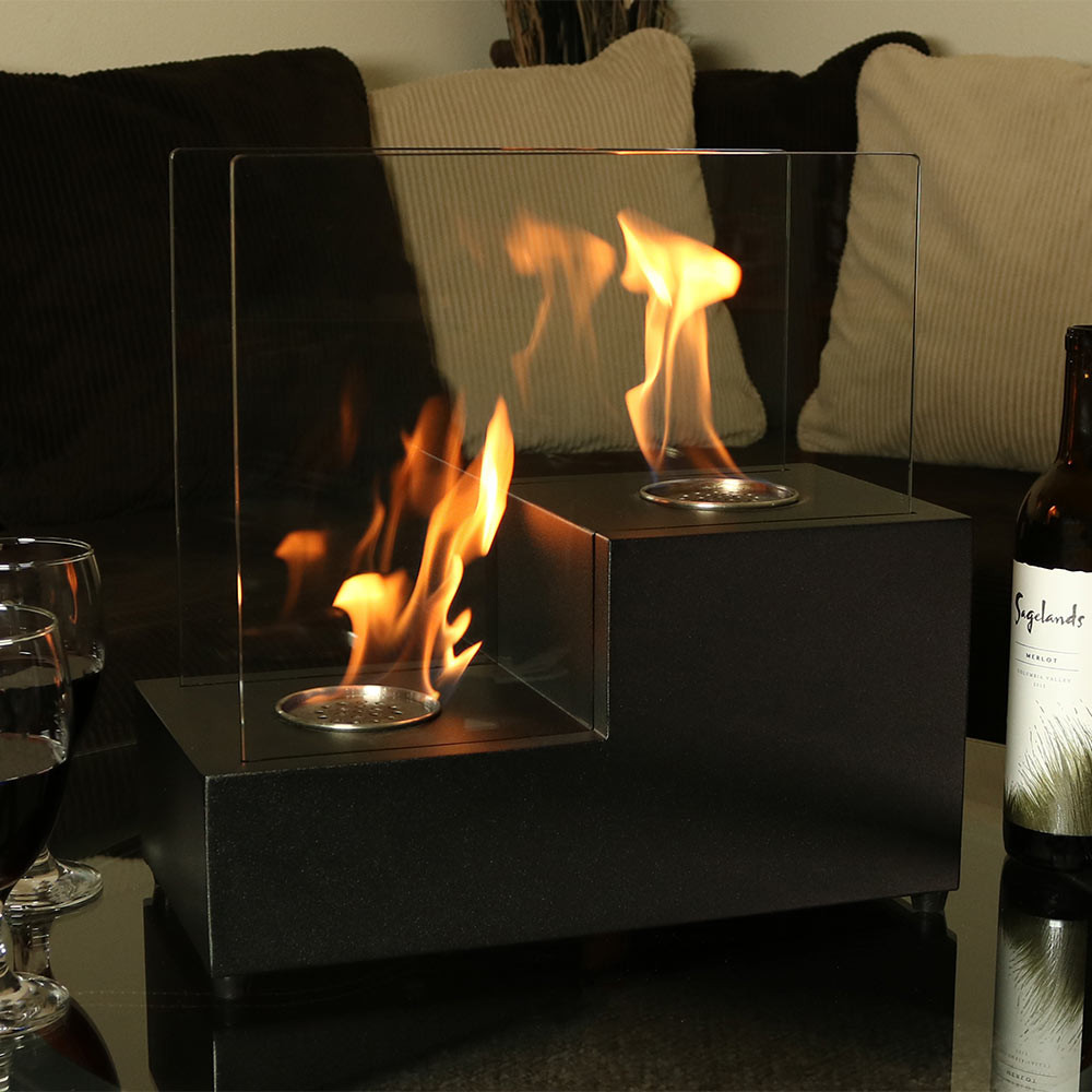 Sunnydaze passo ventless tabletop bio ethanol fireplace for Bio ethanol fire pit