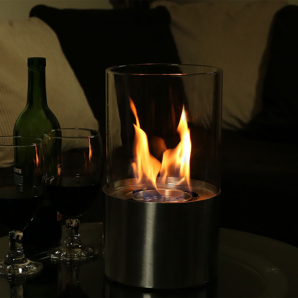 sunnydaze fiammata bio ethanol tabletop fireplace