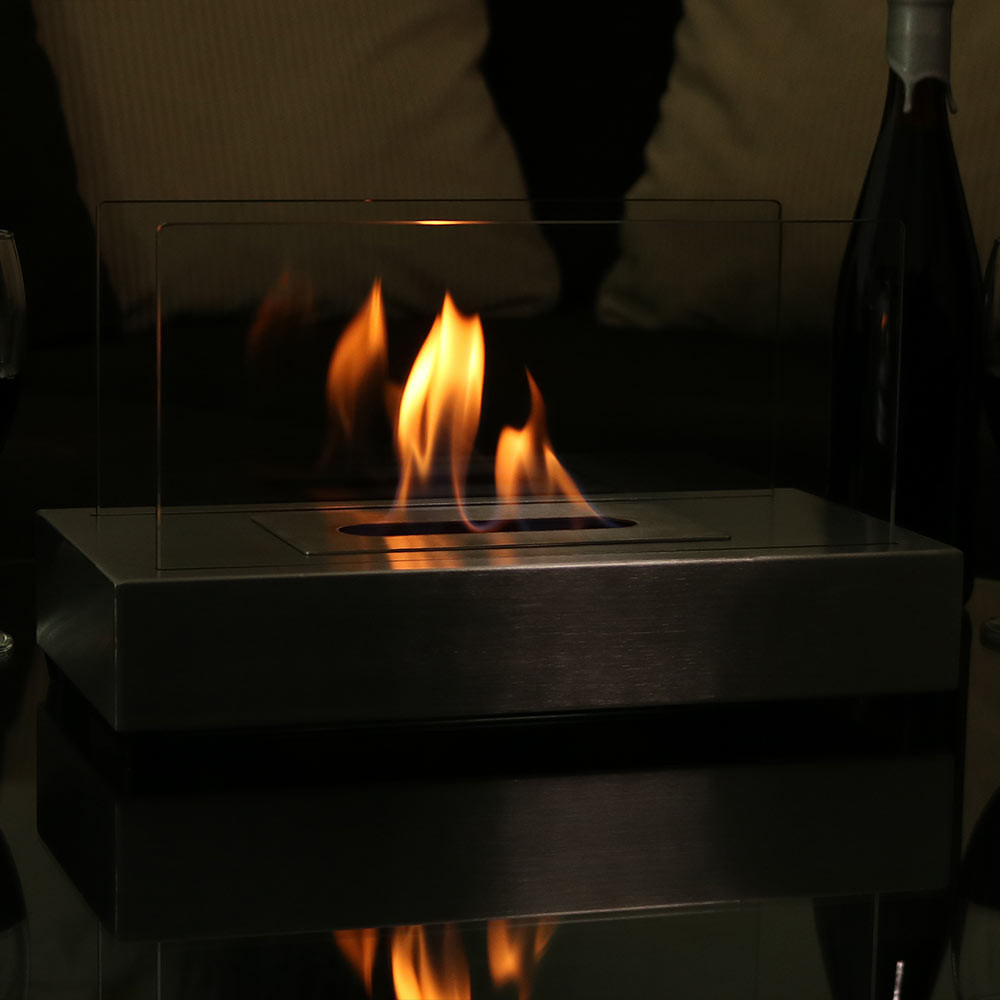 sunnydaze el fuego ventless ethanol tabletop fireplace