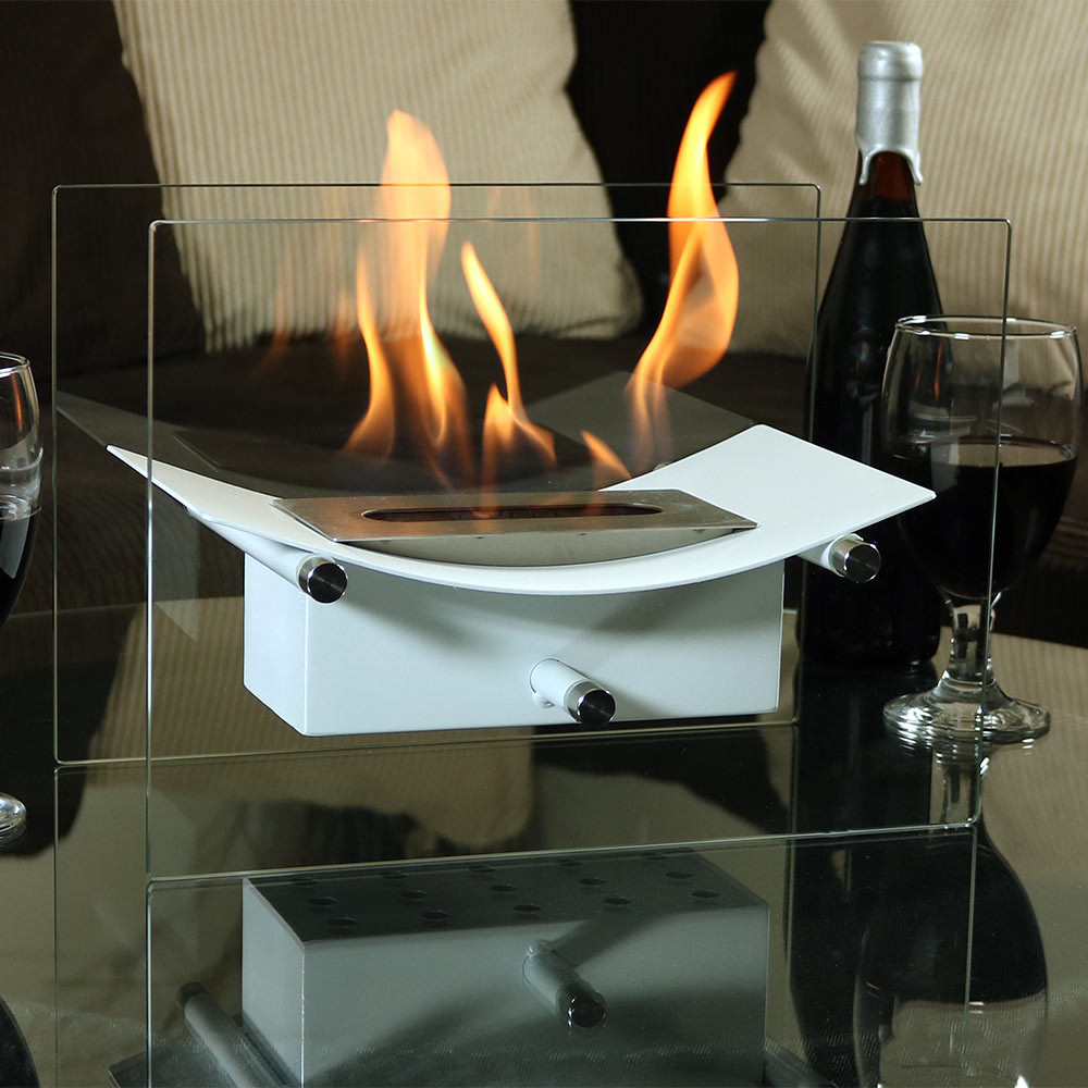 sunnydaze zen ventless tabletop fireplace u2013 bio ethanol