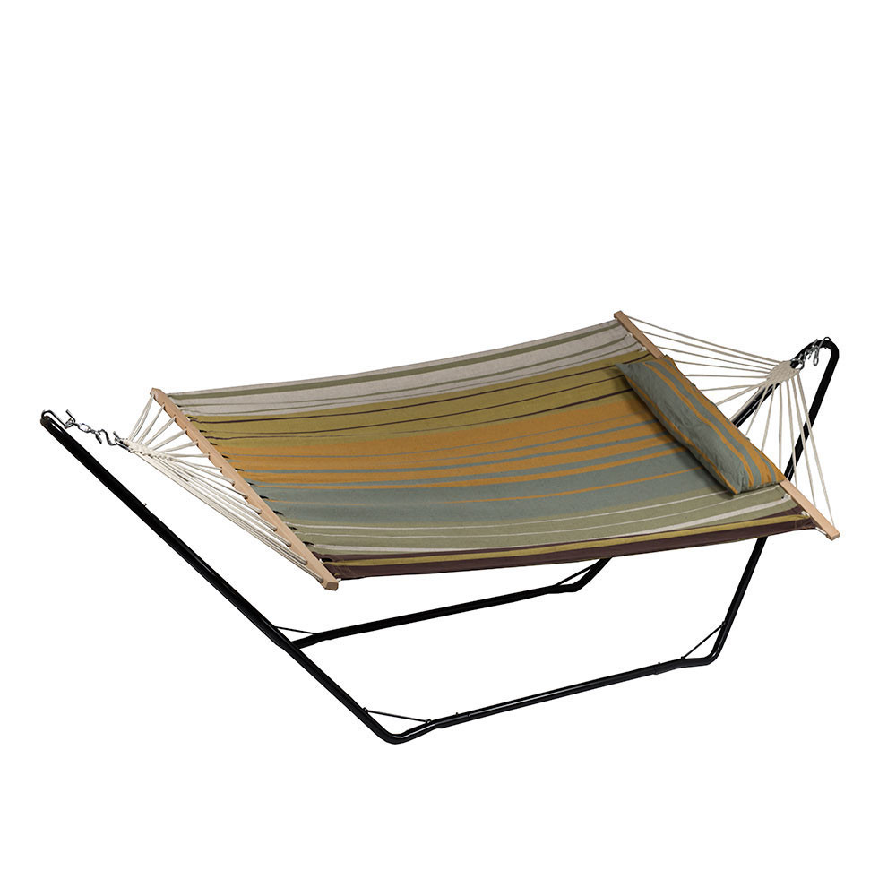 Sunnydaze Beach Cotton Fabric Hammock Spreader Bars Pillow Stand Picture 538