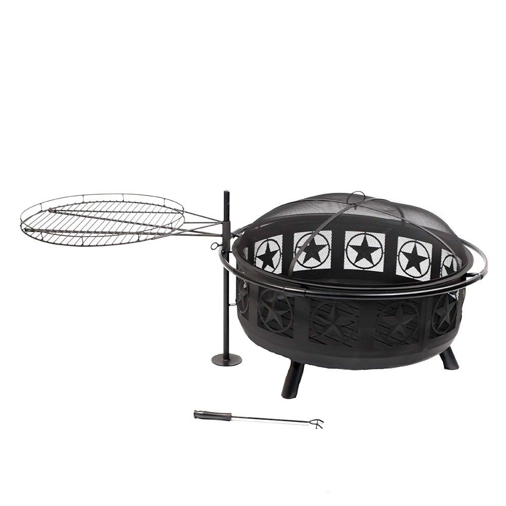 sunnydaze all star fire pit w cooking grate u0026 screen