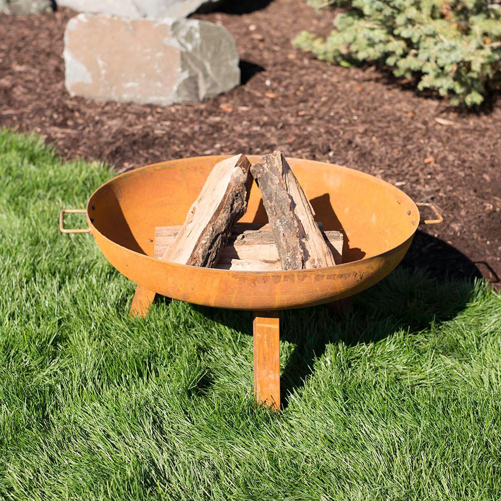Sunnydaze Rustic Cast Iron Fire Pit Bowl Inch Image 233