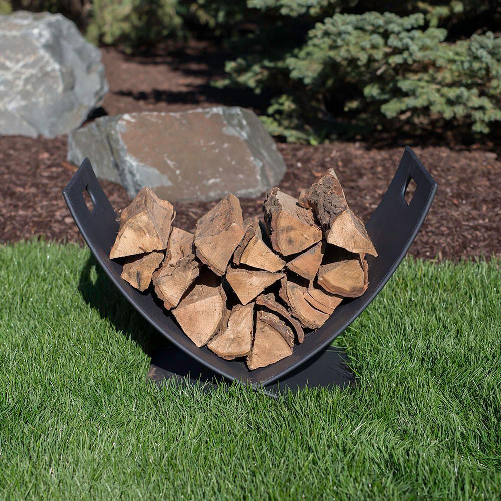 Small Fireside Firewood Log Holder Caddy Rack Storage
