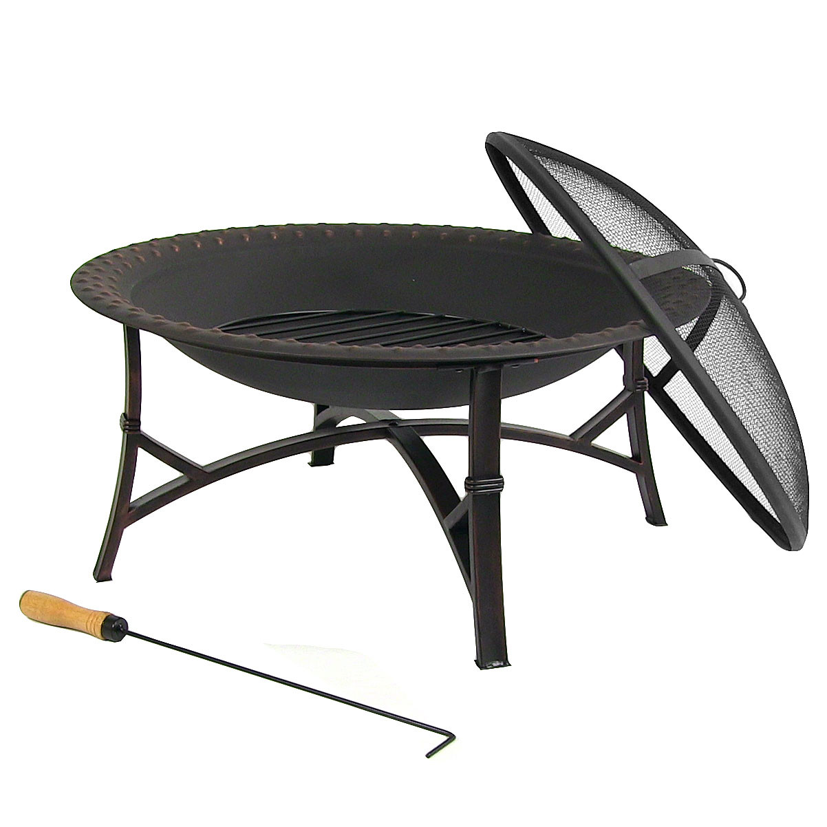 Sunnydaze Hammered Steel Fire Pit Diameter Picture 579