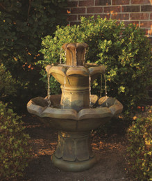 Henri Studio Cast Stone Montreux Two-Tier Water Fountain