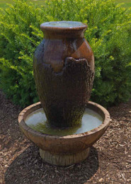Henri Studio Cast Stone Cypress Urn Water Fountain