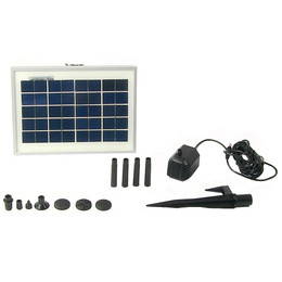 Sunnydaze Solar Pump and Solar Panel Kit With 6 Spray Heads, 79 GPH, 47-Inch Lift