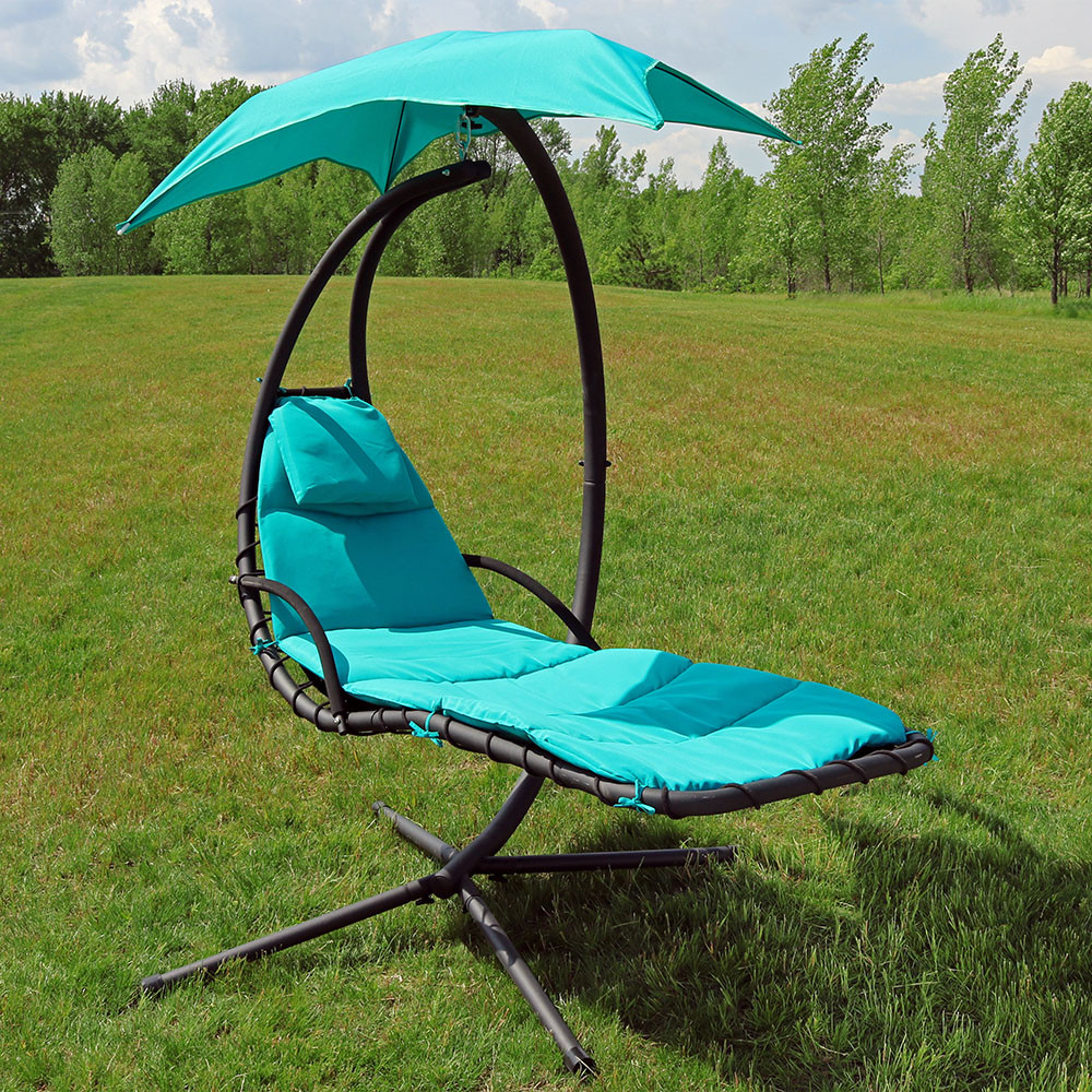 Sunnydaze Teal Floating Chaise Lounge Chair Outdoor