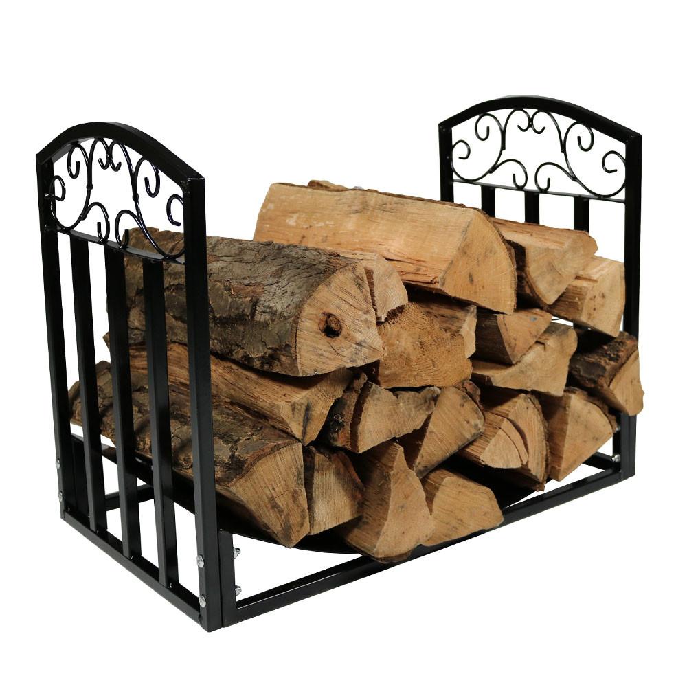 Sunnydaze 2\' Designer Log Rack  Fire Pits