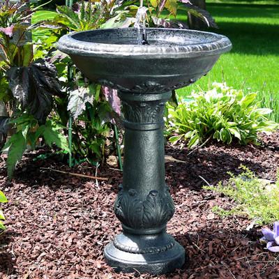 Sunnydaze Oasis Solar On Demand Outdoor Bird Bath Water