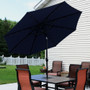 Navy Blue Tilted Outdoors