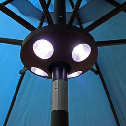 Sunnydaze 4-Panel Patio Umbrella LED Light