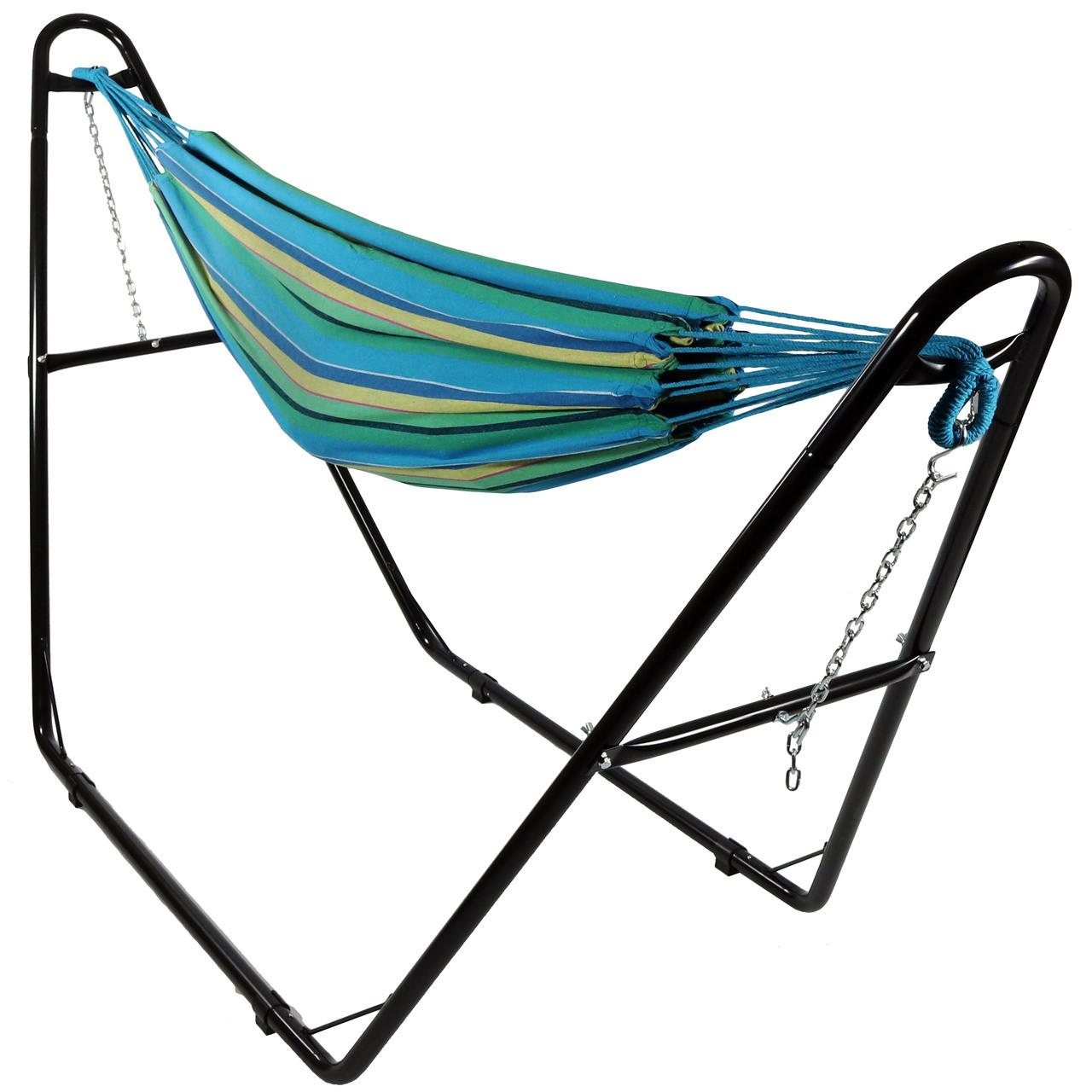 sea grass with multi use hammock stand     sunnydaze brazilian 2 person hammock with universal multi use      rh   serenityhealth