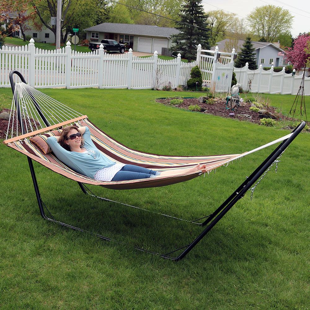 sandy beach hammock with stand