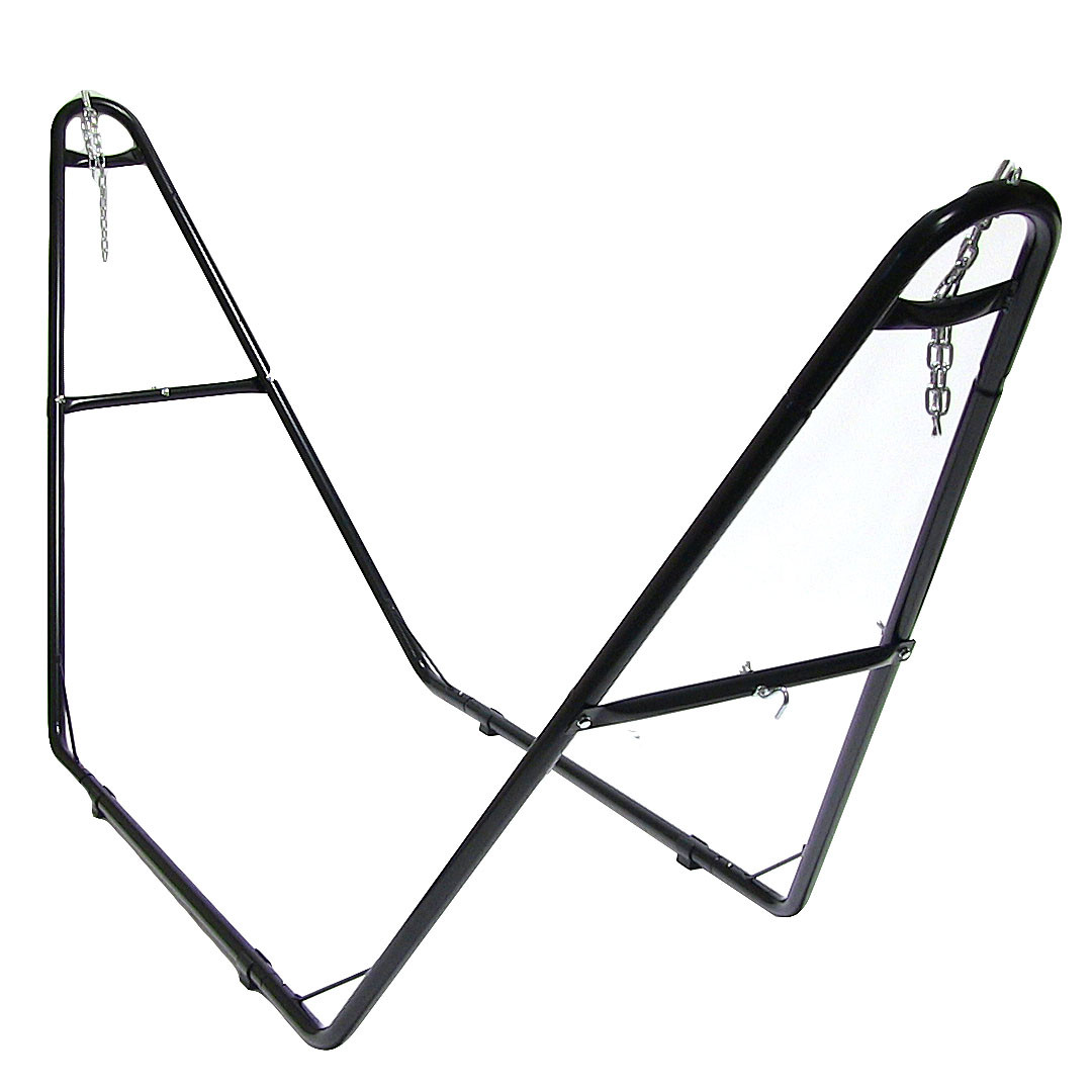 ... Multi-Use Hammock Stand ... - Sunnydaze Cotton Double Wide 2-Person Rope Hammock With Spreader