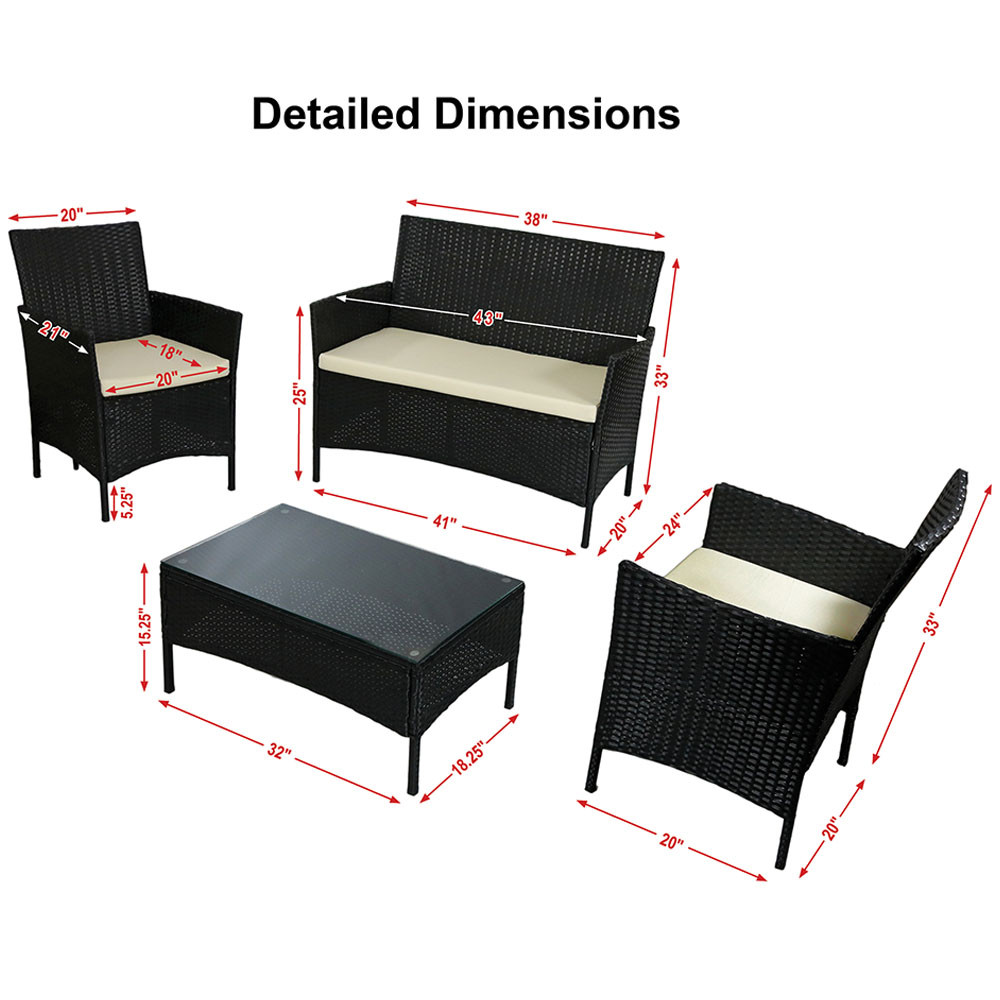 Patio furniture dimensions outdoor goods for Outdoor furniture dimensions