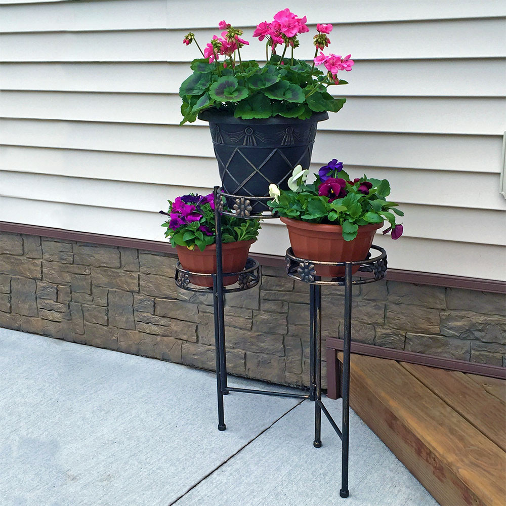 Sunnydaze Tiered Folding Plant Stand 3 Or 6 Tiers