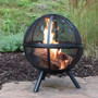 "30"" Moons and Stars Flaming Ball Fire Pit"