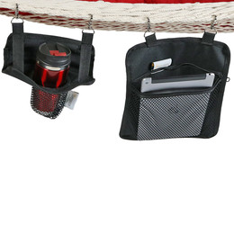 Sunnydaze Hanging Drink and Tablet Holder Set for Rope Hammocks