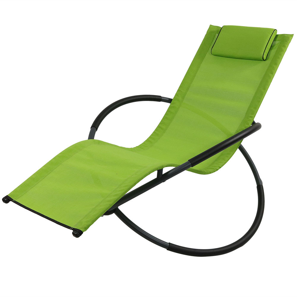 Folding outdoor lounge chair - Green
