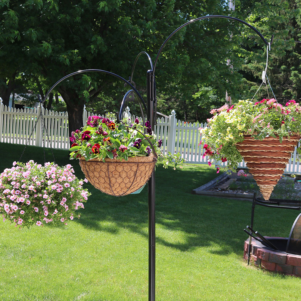 Sunnydaze Four Arm Hanging Basket Stand 84 H