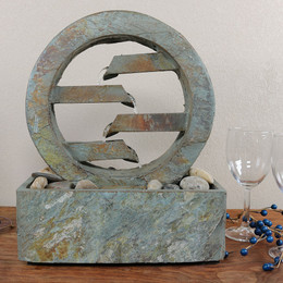 Sunnydaze Infinite 4 Level Slate Tabletop Fountain