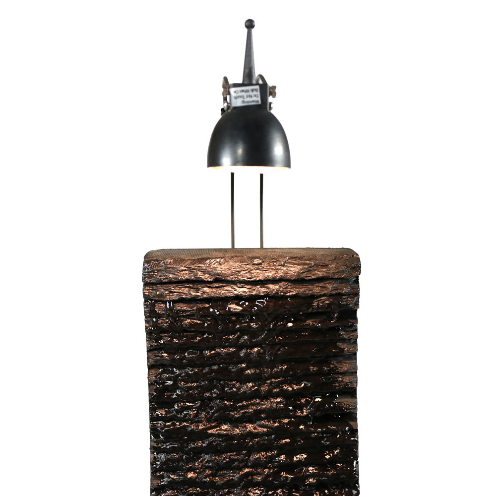 Sunnydaze Crest Slate Tabletop Water Fountain With Led