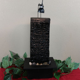 Crest Slate Tabletop Water Fountain