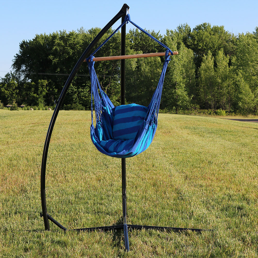 oasis and   x   stand outdoors     sunnydaze hanging hammock swing with two cushions and   x   stand      rh   serenityhealth