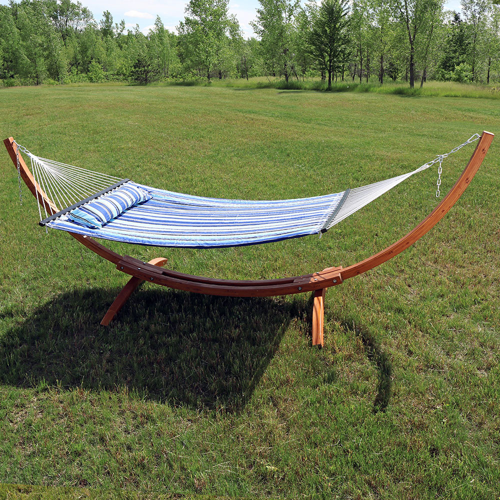 Sunnydaze Quilted Double Fabric 2 Person Hammock With