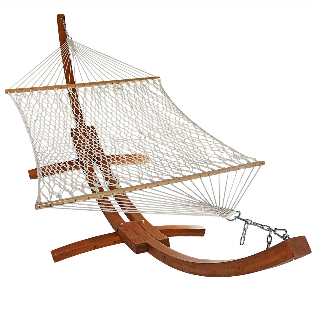 hammock for porch com garden rope net chair yard wood beach stretcher bedroom outdoor capable amazon cradle of cotton indoor dp with