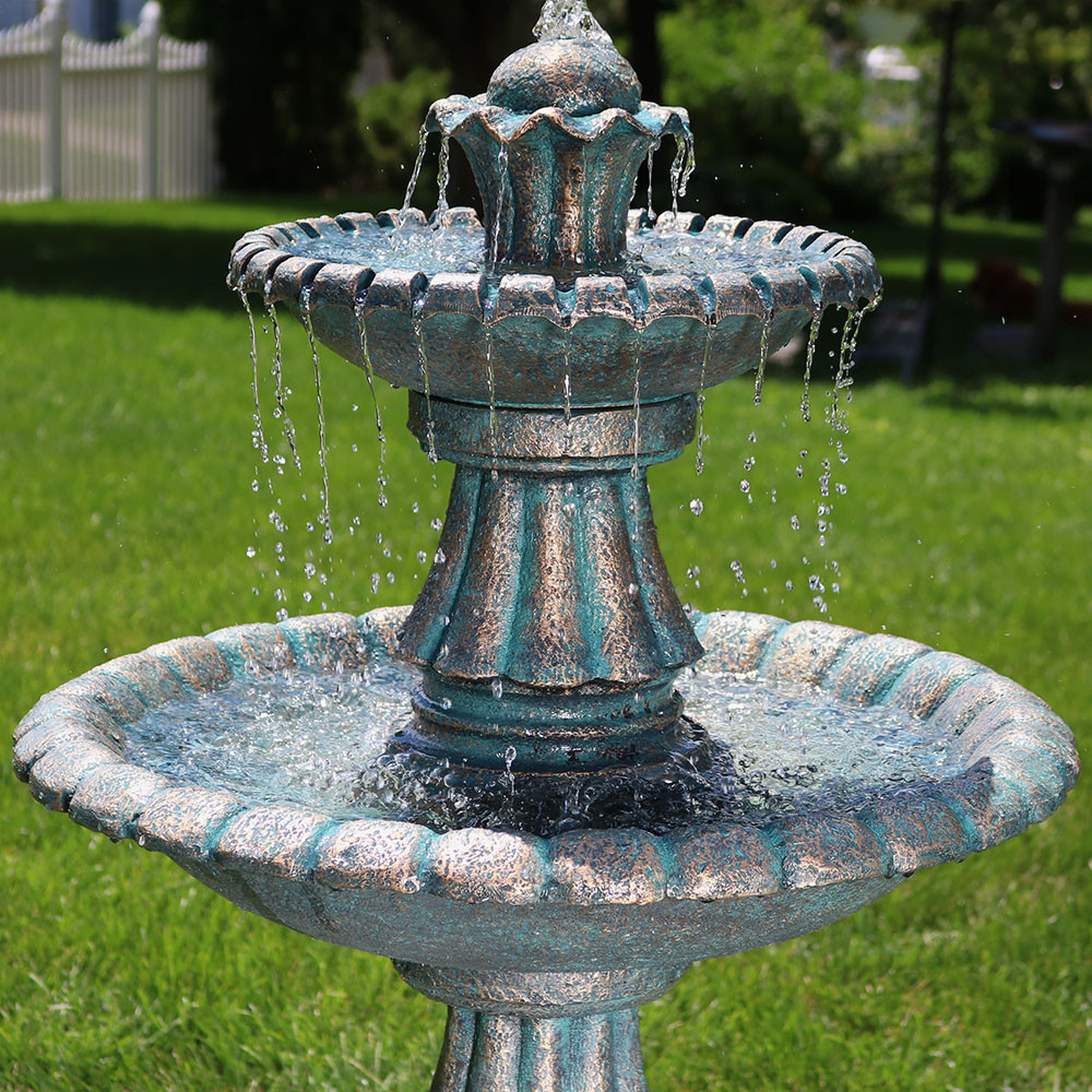 Sunnydaze 41 Quot Nouveau Tiered Garden Water Fountain Water