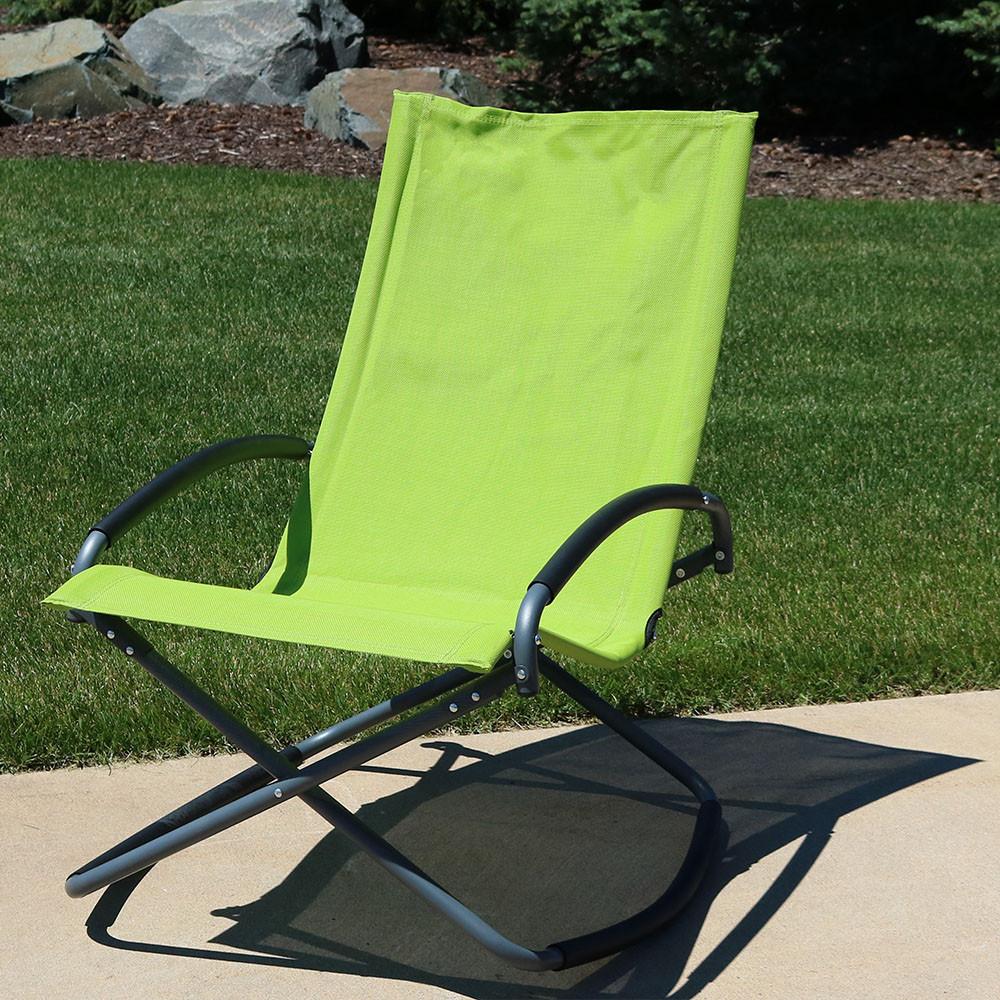 Green; Green Folding Rocker; Green Outdoors ...