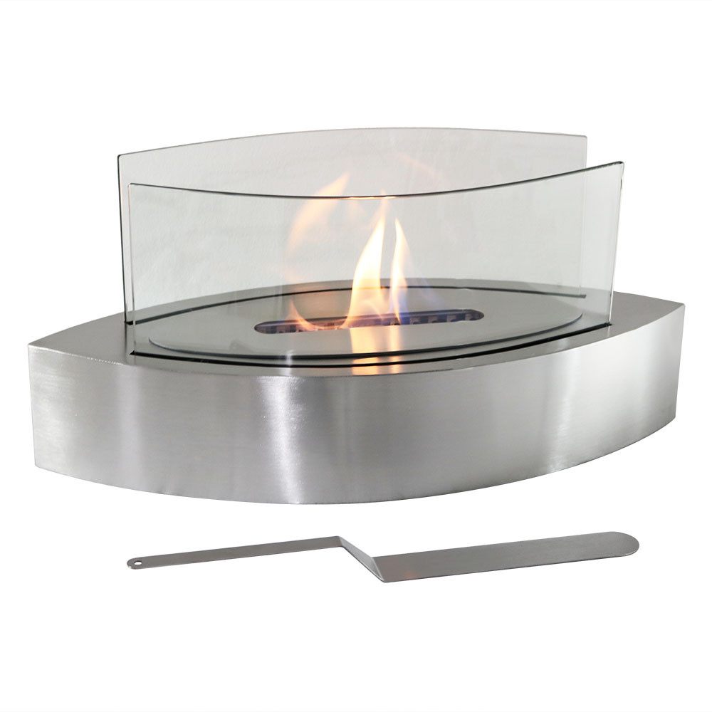 Sunnydaze barco ventless bio ethanol tabletop fireplace for Bio ethanol fire pit