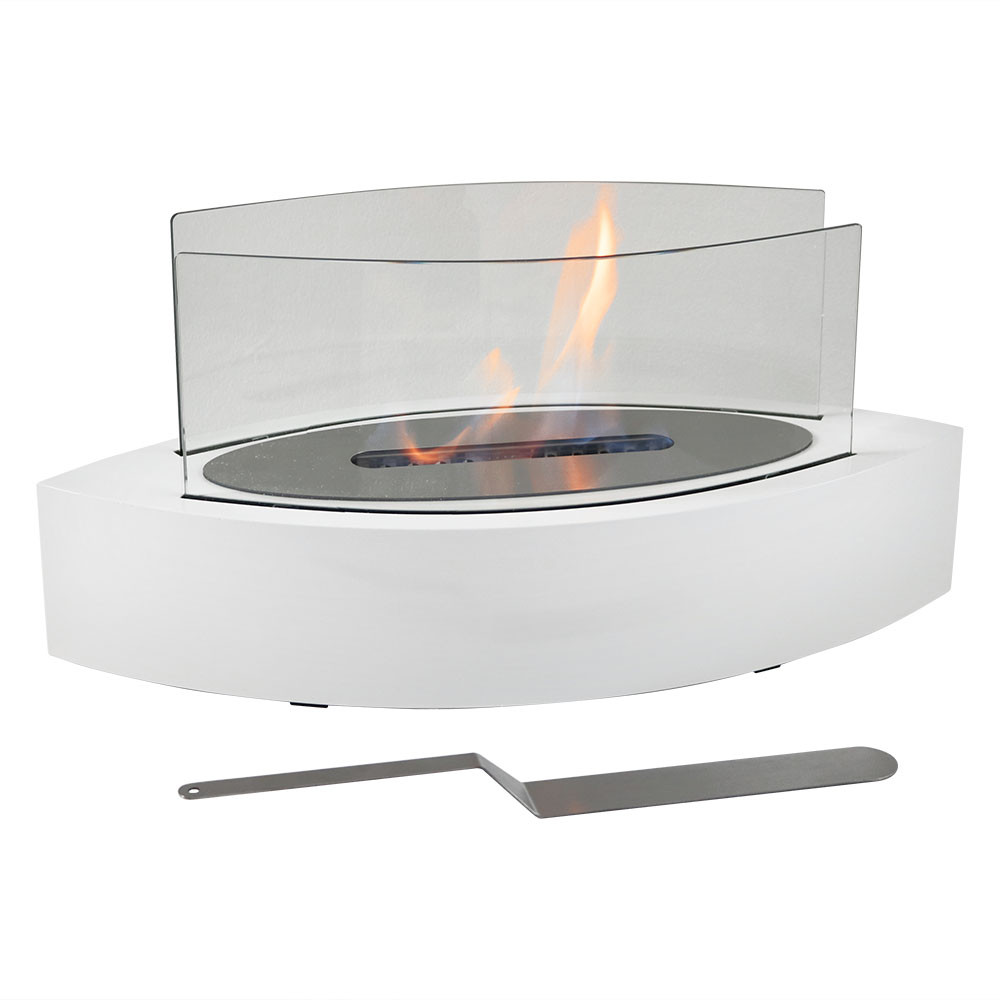 sunnydaze barco ventless bio ethanol tabletop fireplace