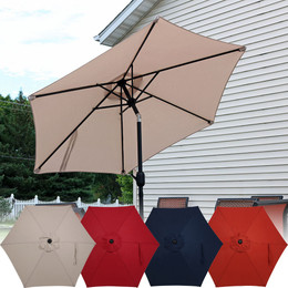 Sunnydaze Aluminum 7.5 Foot Patio Umbrella with Tilt & Crank