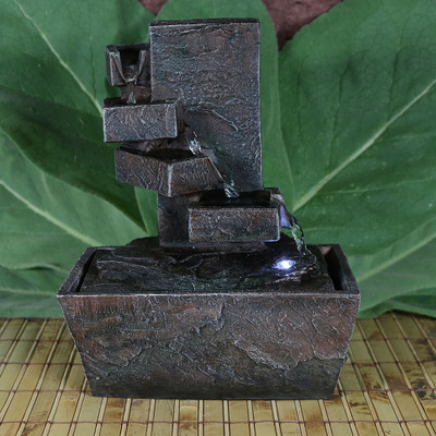 Sunnydaze Spiral Staircase Tabletop Water Fountain With