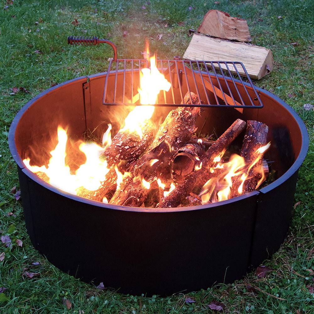 Sunnydaze 36 Inch Diameter Steel Campfire Ring with ...