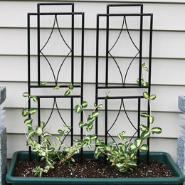 Sunnydaze 30 Inch Contemporary Garden Trellis, Set of 2