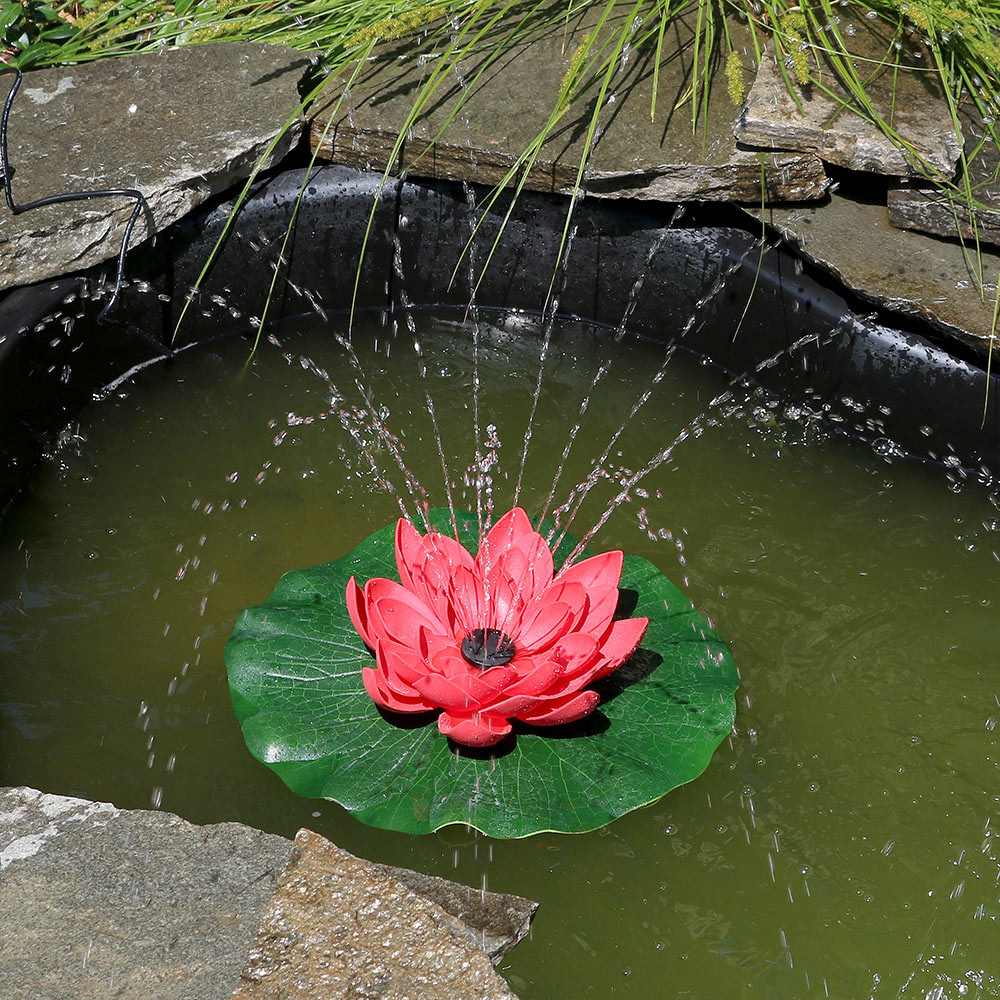 Sunnydaze lotus floating water fountain water fountains red dhlflorist Images