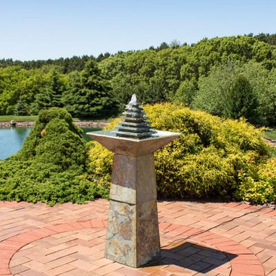 Garden Fountains Stone Outdoor fountains backyard garden waterfall fountains stone garden fountains workwithnaturefo