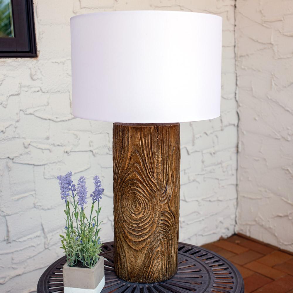 Sunnydaze indooroutdoor nature inspired log polyresin table lamp indoor use outdoor use outdoor aloadofball Gallery