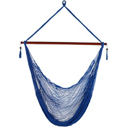 sunnydaze hanging cabo extra large hammock chair 47 inch wide spreader bar max weight  360 pounds color options available hand woven hammock swings and hammock chair swings  rh   serenityhealth