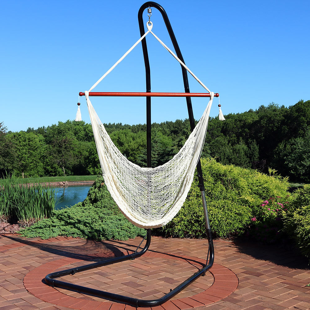 Sunnydaze Hanging Cabo Extra Large Hammock Chair, 47 Inch ...