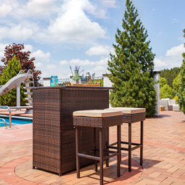 Melindi 3-Piece Outdoor Patio Bar Set