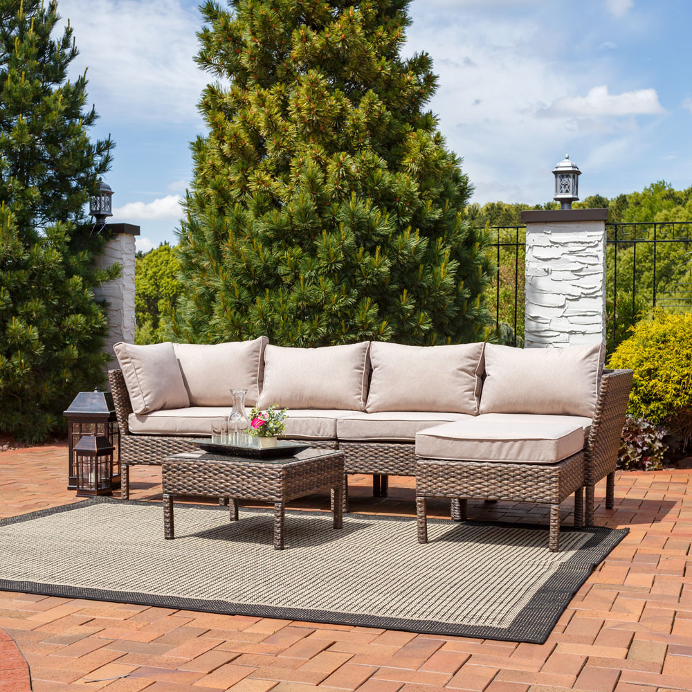 ... Sectional Patio Furniture Set; Detailed Measurements; Outdoor ...