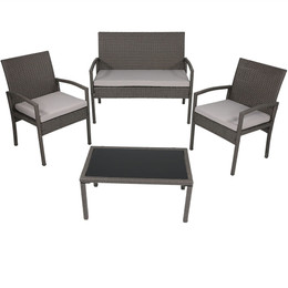 Pompeii 4-Piece Lounger Patio Furniture Set