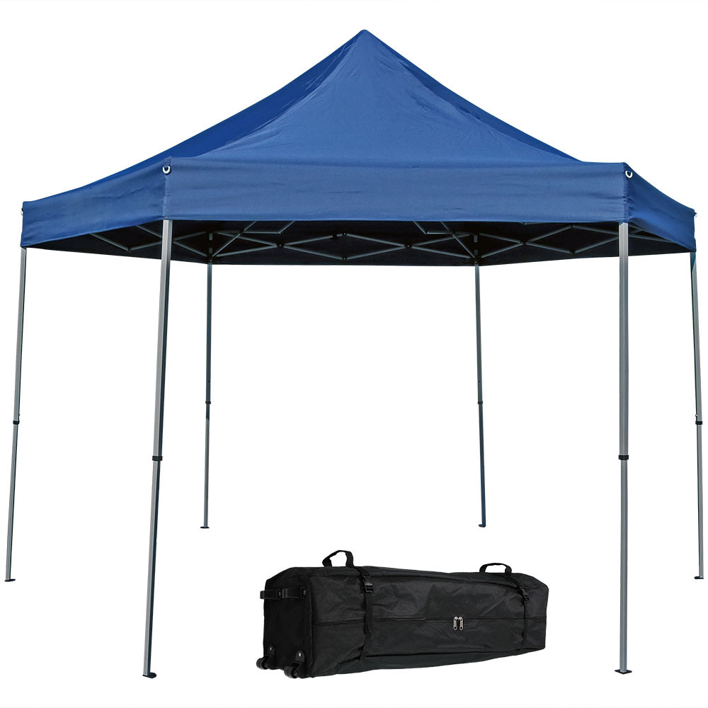 Penthouse Quick-Up Instant Hexagon Canopy Gazebo Tent.  sc 1 st  Serenity Health & Sunnydaze Penthouse Quick-Up Instant Hexagon Canopy Gazebo Tent ...